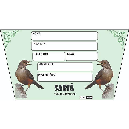 Placa de Identificação para Sabiá