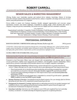 Sales - Marketing Executive Resume Sampl