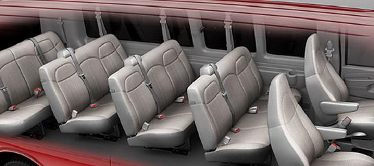 Inside Chevrolet 15 Passenger
