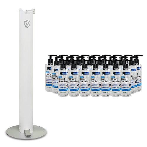 BUNDLE - (1) Pedal Action Stand and (24) 8oz GEL Hand Sanitizer Pump Bottles