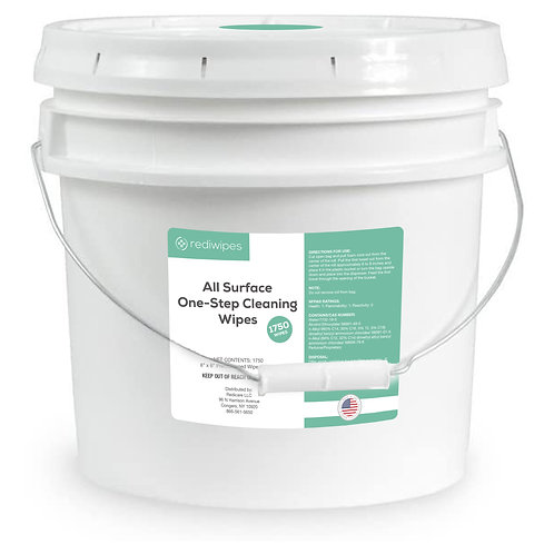 All Surface One-Step Cleaning Wipes in a bucket