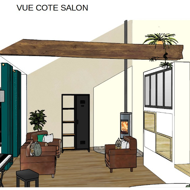 Vue salon