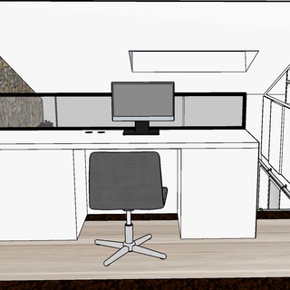 bureau sur mezzanine