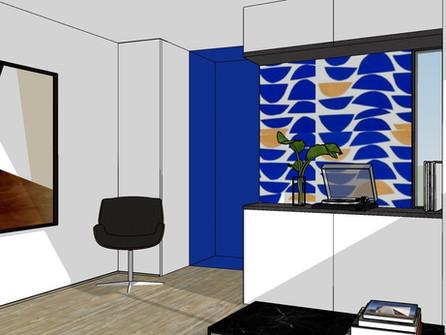 Création d'un visuel 3D pour un appartement de Nantes.
