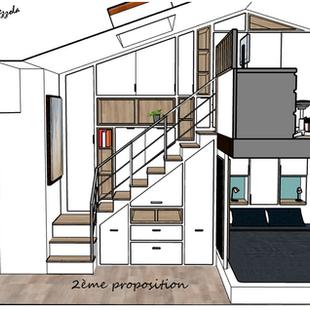 Projet agencement 3d chambre