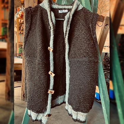 Chaleco para hombre, lanas naturales hiladas a mano - Euge la que teje