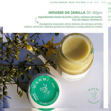 Mousse de Jarilla 70 g - Warmi Cosmética Natural