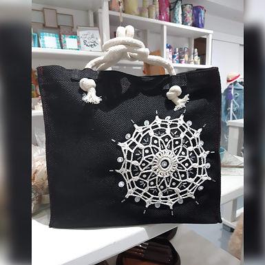 Bolso rectangular negro - Con el alma en un hilo