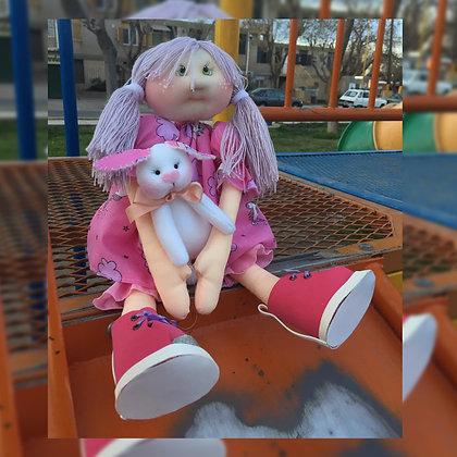 Muñeca con conejito - Ojitos Picarones