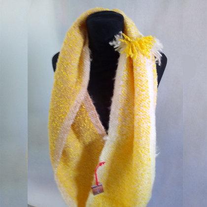 Bufanda infinita amarilla - Loom y Circular