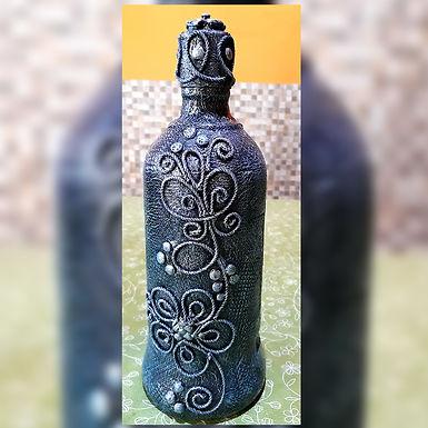 Botella decorada - Artesanías Maroy