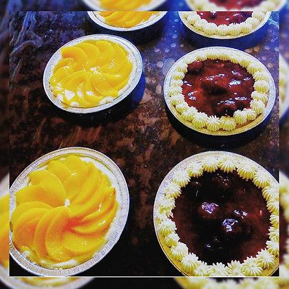 Tarta  de frutillas o duraznos con crema - Tres Soles Delicias sin Tacc