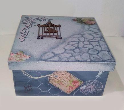 Caja de madera - Grey
