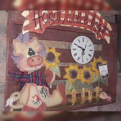 Reloj Chanchito - Artesanías Country Evangelina