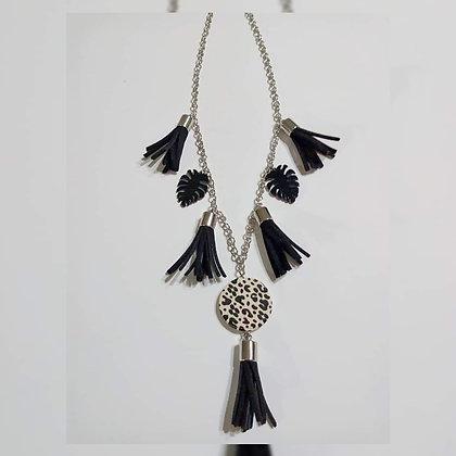 Collar doble cordón con flecos - Meg Accesorios