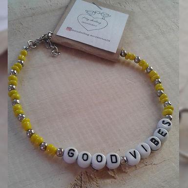 Tobillera Good vibes (buenas vibras) - My darling accesorios