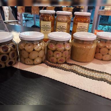 Aceitunas rellenas con salame milán - Algiuben Gurmet