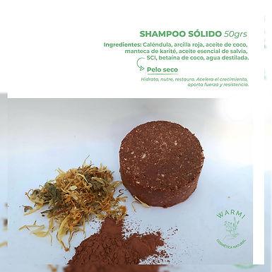 Shampoo sólido - Pelo graso, caspa y caída - Warmi Cosmética Natural