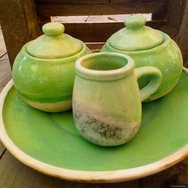 Juego de mate con bandeja - El llastay cerámica