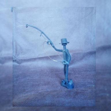 Figura - El Pescador - El Curita Gaucho Taller de Artesa