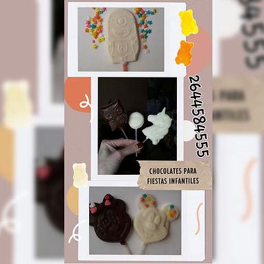 Chupetines - Chocolate para el Alma. Bombones Artesanales