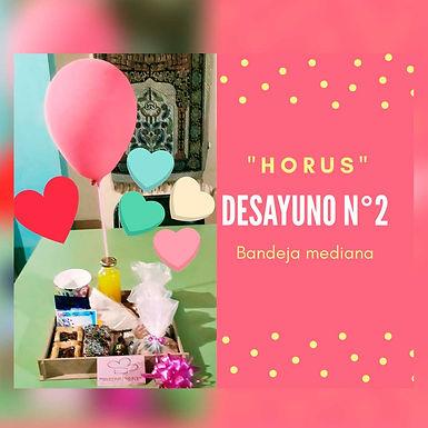 Desayuno 2 con minitorta - Horus Desayunos