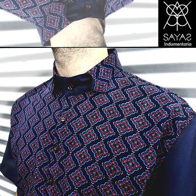 Camisa unisex azulejos - SayaS - indumentaria