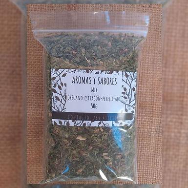 Mix estragón, orégano, perejil y ajo - Aromas y Sabores