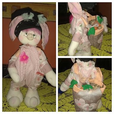 Conejita con mochila - Maku Artesanías