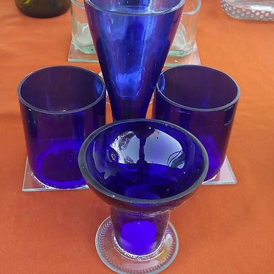 Azucarera y mate hechas con botellas - Artesanías en Botellas San Juan
