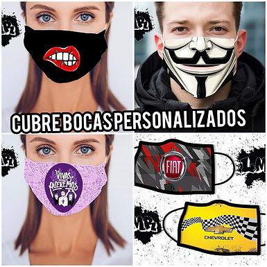 Cubre bocas personalizados  sublimado o estampa - Lula Marula