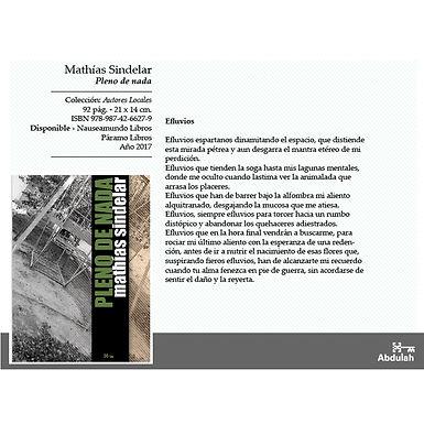 Pleno de nada - Abdulah Libros