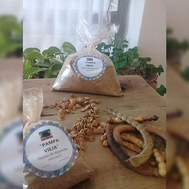 Harina de algarroba artesanal - Pampa Vieja