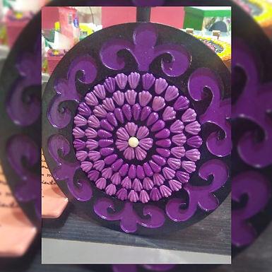 Mandala lila - Las Tinajas