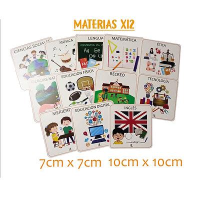 Materias x12  7x7cm - Huella Lúdica