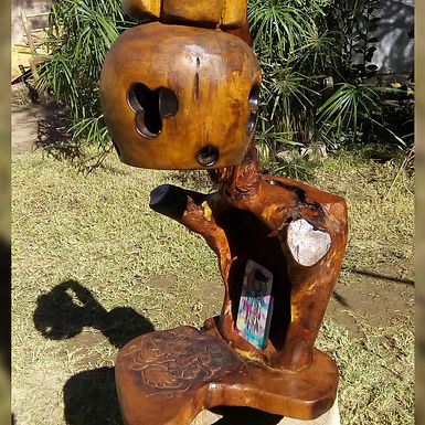 Velador en algarrobo - Artesanías Río verde