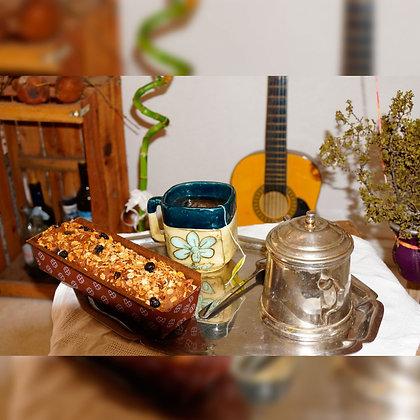 Budín vegano con granola y frutos secos - Pampa Vieja