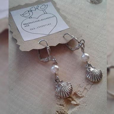 Aros ostras - My darling accesorios