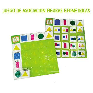 Juego de asociación figuras geométricas - Huella Lúdica