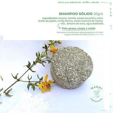 Shampoo sólido - Pelo Seco - Warmi Cosmética Natural