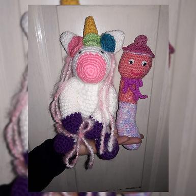 Muñeco Tejido - Unicornio - Manitos Laboriosas