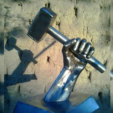 Escultura en metal forjado - Herrería Hefesto. Arte-metal