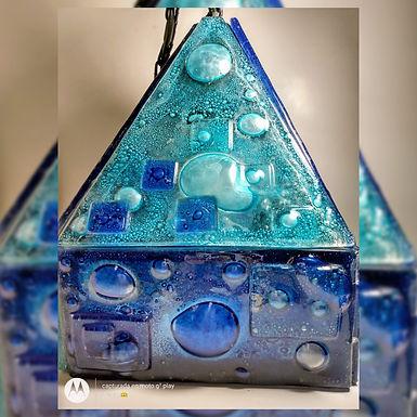 Lámpara de techo - 2 - Reina de Cristales -Vitrofusión