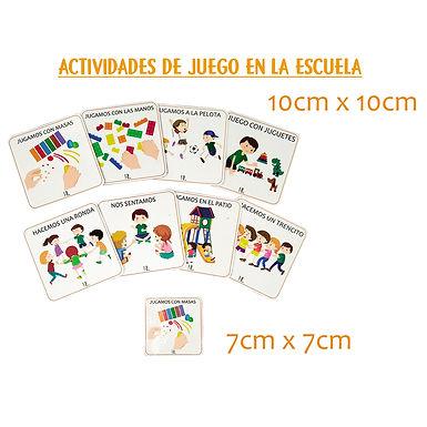 Actividades De Juego En La Escuela 7x7 cm - Huella Lúdica