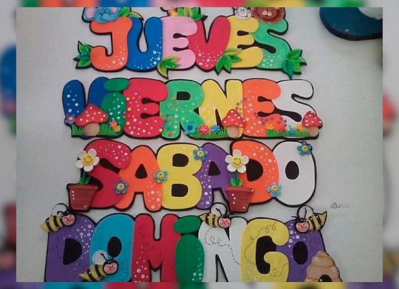 Carteles decorados - Lulilour Artesanías
