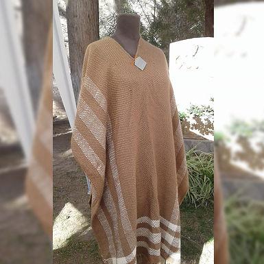 Poncho tejido en telar - La Araña Tejido Artesanal