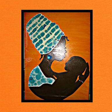 Cuadro Afro  - Arte en Madera