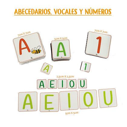 Vocales  2,5x2,5cm - Huella Lúdica