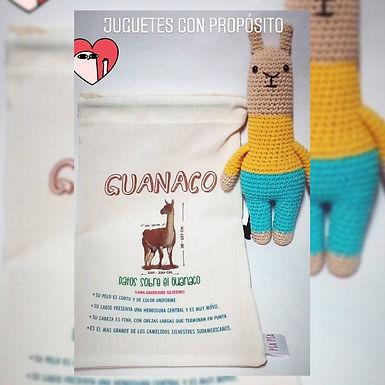 Guanaco + bolsita para guardar y llevar - Pía Pía