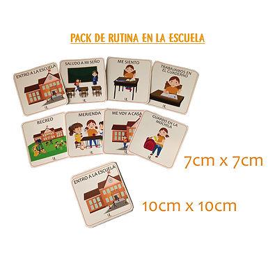 Pack De Rutina En La Escuela 10x10cm - Huella Lúdica